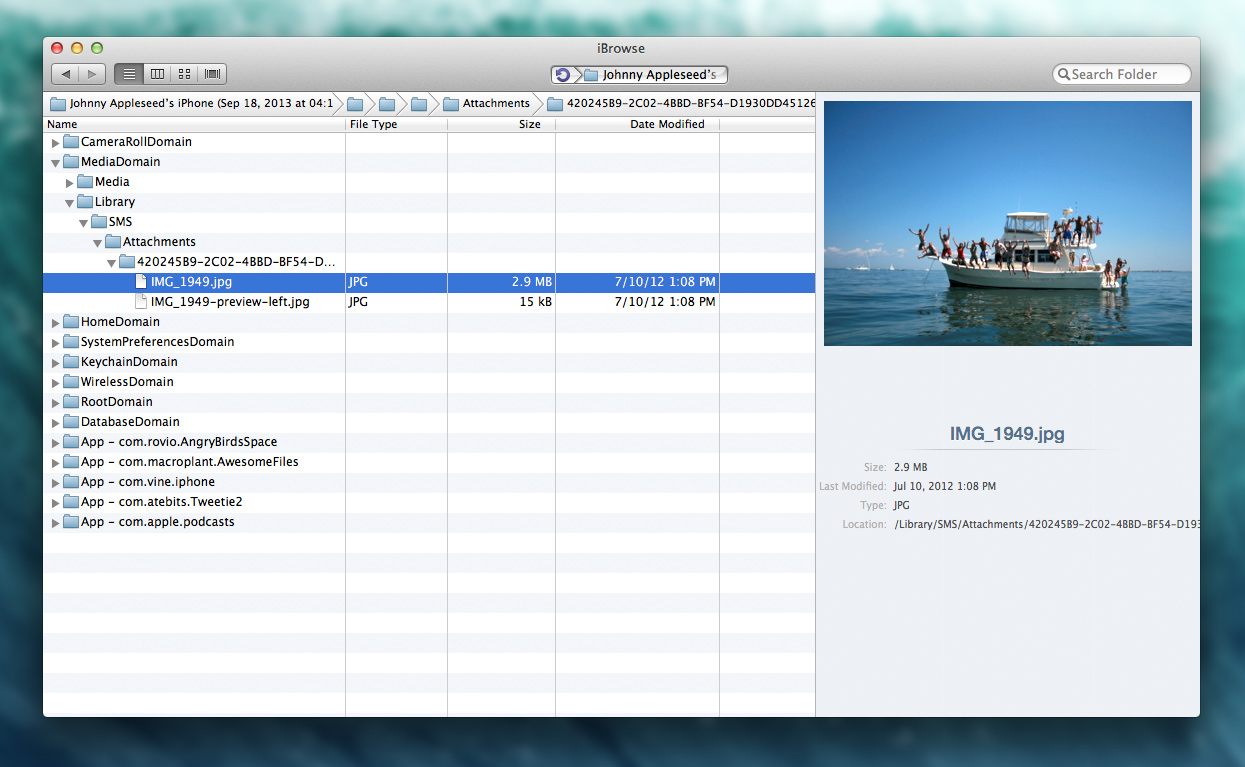 Browse Files on iPhone & iPad from Mac or PC · iBrowse · iBrowse