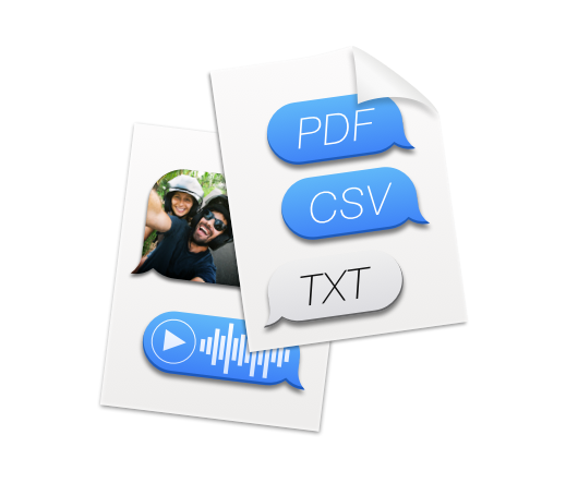 Export messages from iPhone to various formats