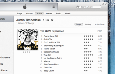 Your music has been transferred to iTunes.