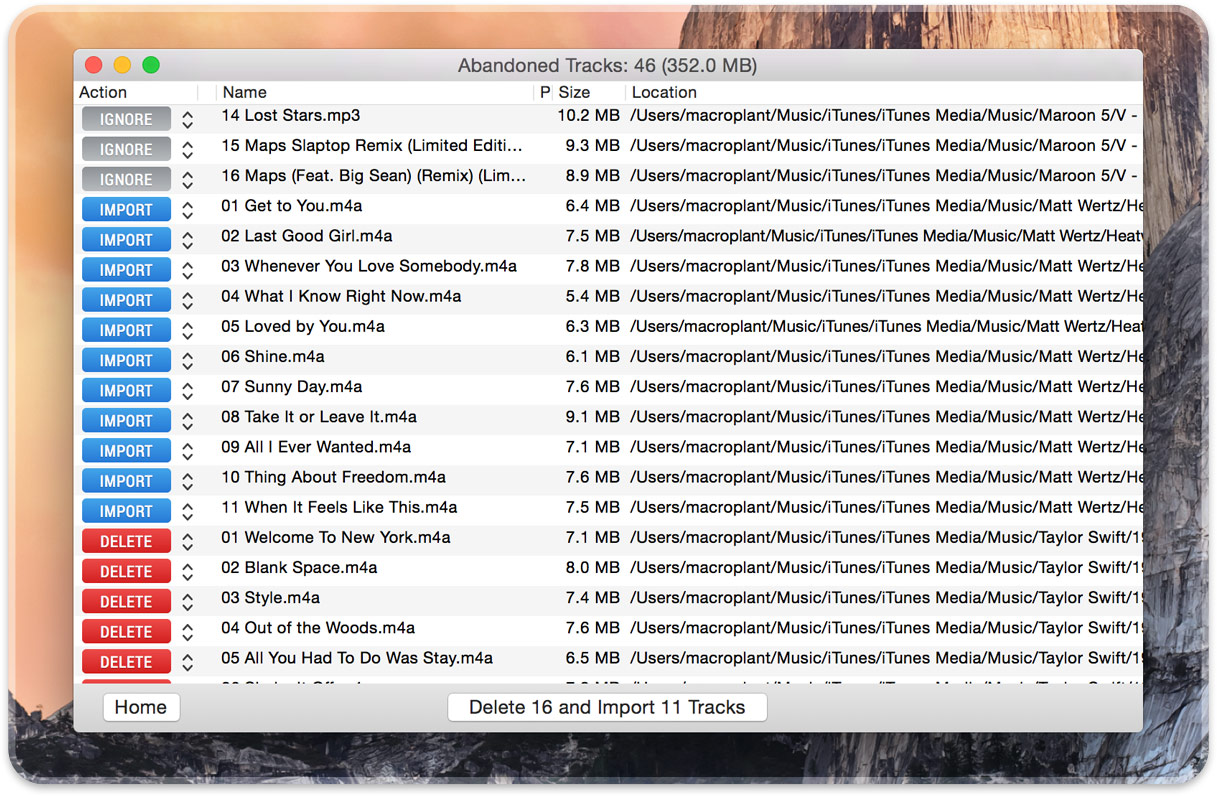 import missing files to itunes