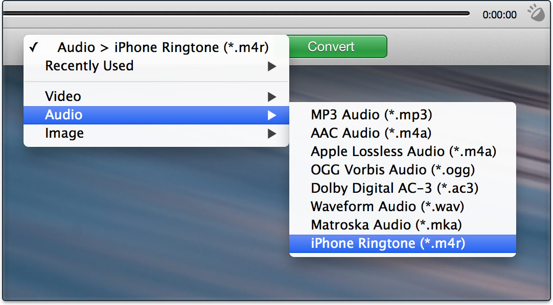 convert audio files to ringtones