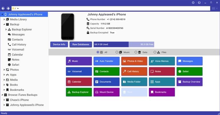 iExplorer for Mac full screenshot