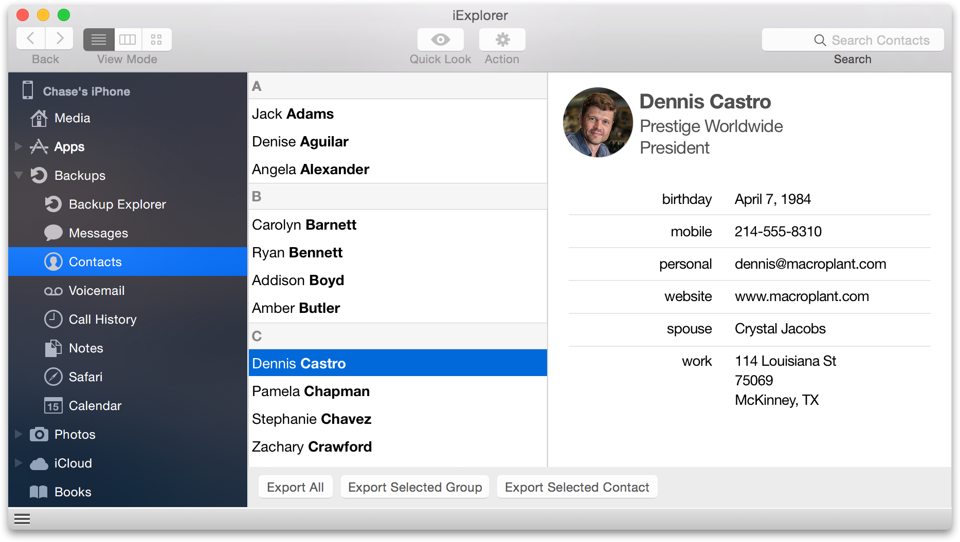 download iphone contacts and address book to computer