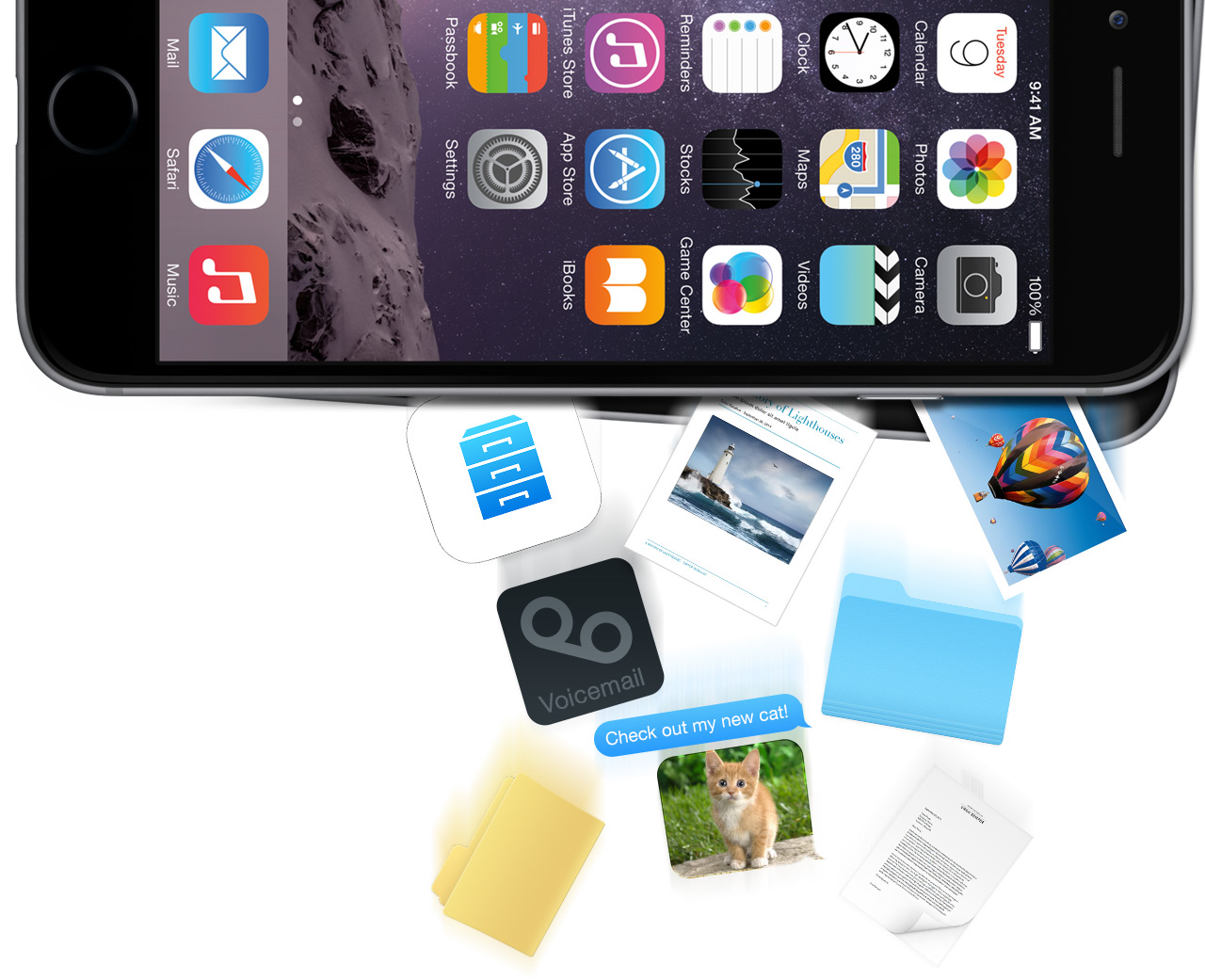 access iphone files on computer