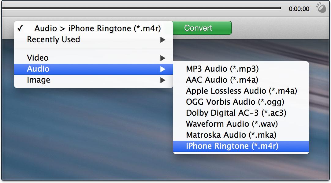 convert audio files to ringtones
