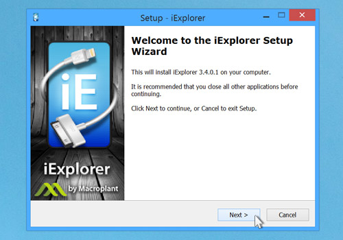iExplorer Installation Instructions: Step 2