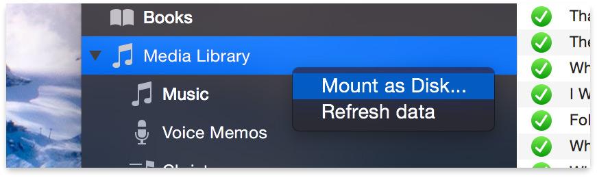 iexplorer mount as disk